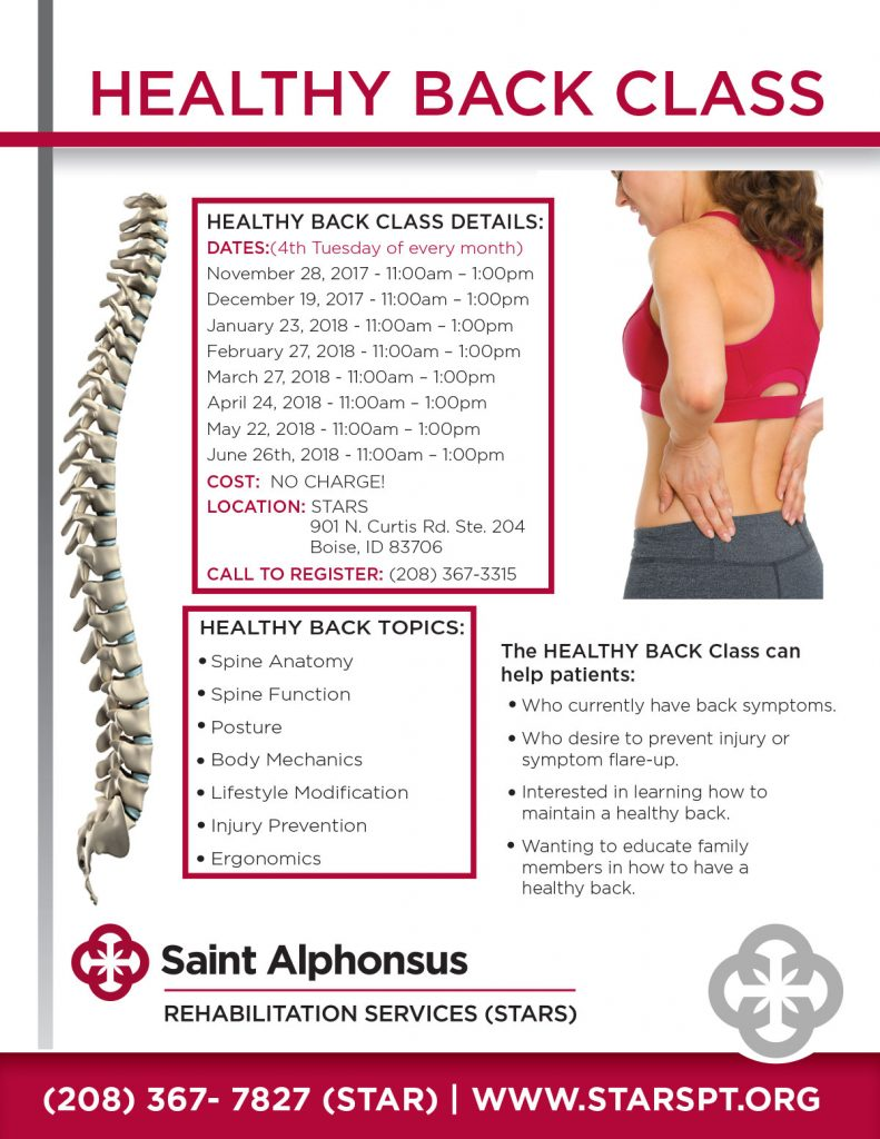 Free Healthy Back Class