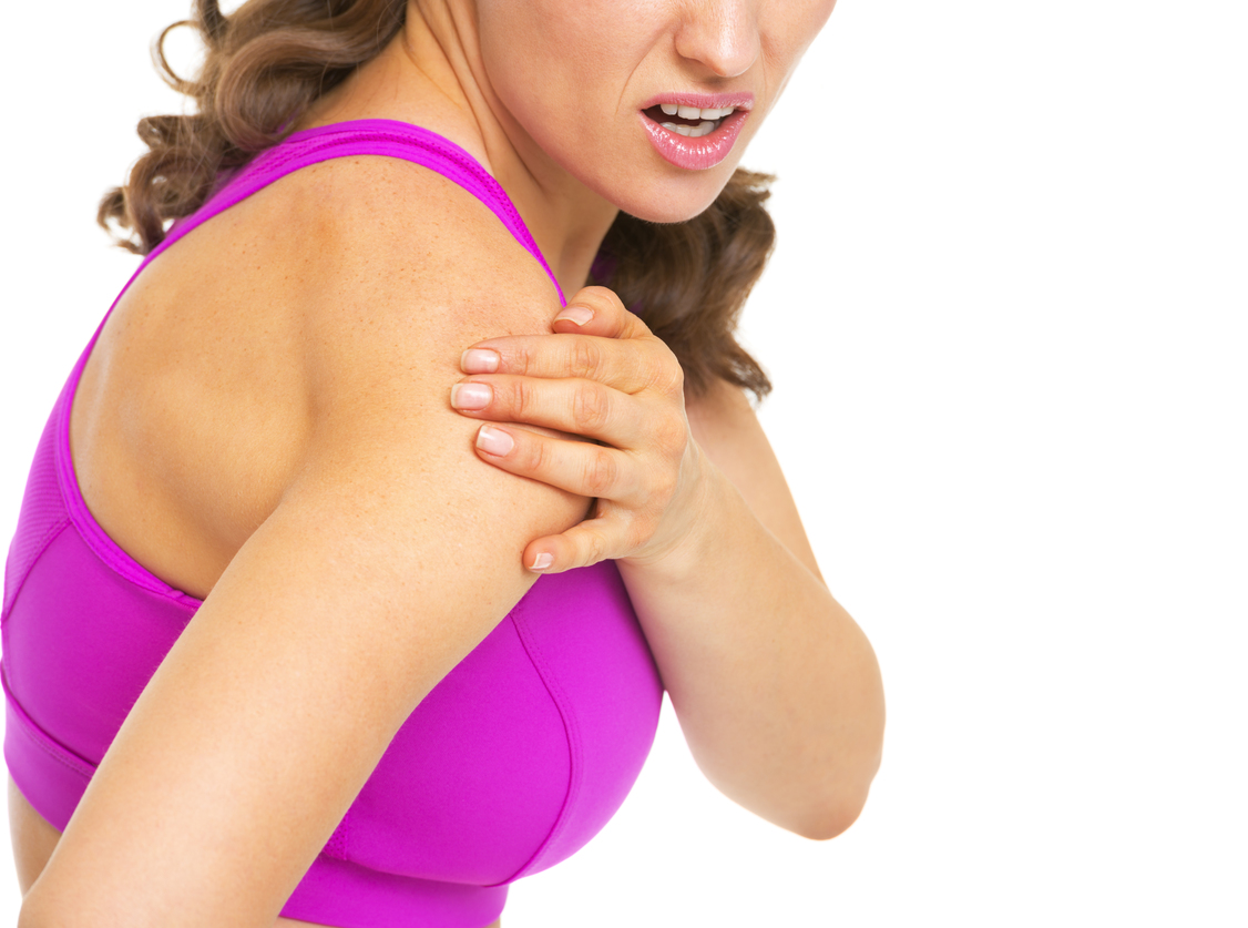 Woman with shoulder issues