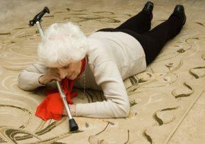 Senior woman fallen down