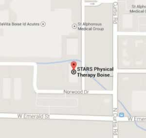 STARS Physical Therapy Boise Curtis Map
